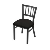 "610 Contessa 18"" Chair with Pewter Finish and Canter Espresso Seat"