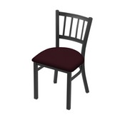 "610 Contessa 18"" Chair with Pewter Finish and Canter Bordeaux Seat"