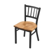 """610 Contessa 18"""" Chair with Pewter Finish and Medium Maple Seat"""