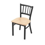 "610 Contessa 18"" Chair with Pewter Finish and Natural Maple Seat"