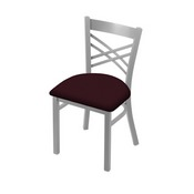 "620 Catalina 18"" Chair with Anodized Nickel Finish and Canter Bordeaux Seat"