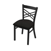 "620 Catalina 18"" Chair with Black Wrinkle Finish and Canter Espresso Seat"