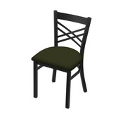 """620 Catalina 18"""" Chair with Black Wrinkle Finish and Canter Pine Seat"""