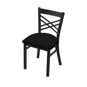 "620 Catalina 18"" Chair with Black Wrinkle Finish and Black Vinyl Seat"