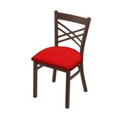 "620 Catalina 18"" Chair with Bronze Finish and Canter Red Seat"