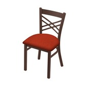 """620 Catalina 18"""" Chair with Bronze Finish and Graph Poppy Seat"""