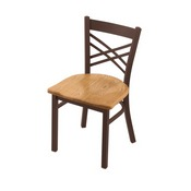 """620 Catalina 18"""" Chair with Bronze Finish and Medium Oak Seat"""