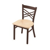 "620 Catalina 18"" Chair with Bronze Finish and Natural Maple Seat"