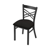 "620 Catalina 18"" Chair with Pewter Finish and Canter Espresso Seat"