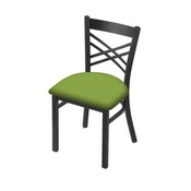 "620 Catalina 18"" Chair with Pewter Finish and Canter Kiwi Green Seat"