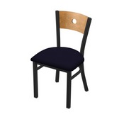 "630 Voltaire 18"" Chair with Black Wrinkle Finish, Medium Back, and Canter Twilight Seat"