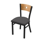 "630 Voltaire 18"" Chair with Black Wrinkle Finish, Medium Back, and Canter Storm Seat"