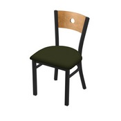 "630 Voltaire 18"" Chair with Black Wrinkle Finish, Medium Back, and Canter Pine Seat"