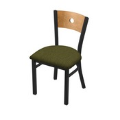 "630 Voltaire 18"" Chair with Black Wrinkle Finish, Medium Back, and Graph Parrot Seat"