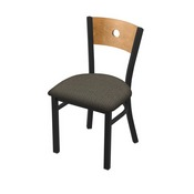"630 Voltaire 18"" Chair with Black Wrinkle Finish, Medium Back, and Graph Chalice Seat"