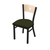 "630 Voltaire 18"" Chair with Black Wrinkle Finish, Natural Back, and Canter Pine Seat"