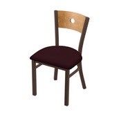 "630 Voltaire 18"" Chair with Bronze Finish, Medium Back, and Canter Bordeaux Seat"