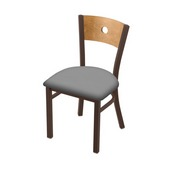 "630 Voltaire 18"" Chair with Bronze Finish, Medium Back, and Canter Folkstone Grey Seat"