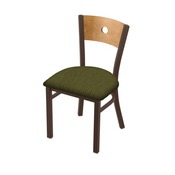 "630 Voltaire 18"" Chair with Bronze Finish, Medium Back, and Graph Parrot Seat"