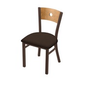 "630 Voltaire 18"" Chair with Bronze Finish, Medium Back, and Rein Coffee Seat"