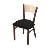 "630 Voltaire 18"" Chair with Bronze Finish, Natural Back, and Canter Espresso Seat"