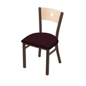 "630 Voltaire 18"" Chair with Bronze Finish, Natural Back, and Canter Bordeaux Seat"