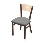 "630 Voltaire 18"" Chair with Bronze Finish, Natural Back, and Canter Folkstone Grey Seat"