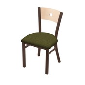 "630 Voltaire 18"" Chair with Bronze Finish, Natural Back, and Graph Parrot Seat"