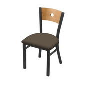 """630 Voltaire 18"""" Chair with Pewter Finish, Medium Back, and Canter Earth Seat"""
