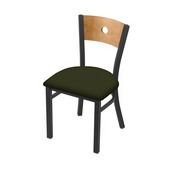 "630 Voltaire 18"" Chair with Pewter Finish, Medium Back, and Canter Pine Seat"