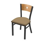 """630 Voltaire 18"""" Chair with Pewter Finish, Medium Back, and Canter Sand Seat"""