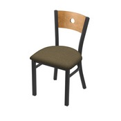 "630 Voltaire 18"" Chair with Pewter Finish, Medium Back, and Graph Cork Seat"