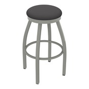 802 Misha Swivel Stool with Anodized Nickel Finish and Canter Storm Seat