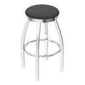 802 Misha Swivel Stool with Chrome Finish and Canter Storm Seat