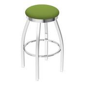 802 Misha Swivel Stool with Chrome Finish and Canter Kiwi Green Seat