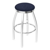 802 Misha Swivel Stool with Chrome Finish and Graph Anchor Seat