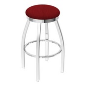 802 Misha Swivel Stool with Chrome Finish and Graph Ruby Seat