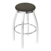 802 Misha Swivel Stool with Chrome Finish and Graph Chalice Seat