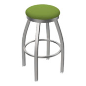 802 Misha Swivel Stool with Stainless Finish and Canter Kiwi Green Seat