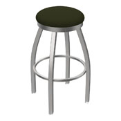 802 Misha Swivel Stool with Stainless Finish and Canter Pine Seat