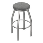 802 Misha Swivel Stool with Stainless Finish and Graph Alpine Seat