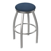 802 Misha Swivel Stool with Stainless Finish and Rein Bay Seat