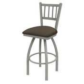810 Contessa Swivel Stool with Anodized Nickel Finish and Canter Earth Seat