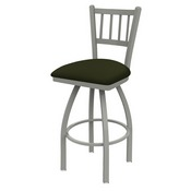 810 Contessa Swivel Stool with Anodized Nickel Finish and Canter Pine Seat