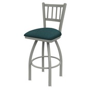 810 Contessa Swivel Stool with Anodized Nickel Finish and Graph Tidal Seat