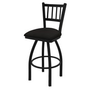 """810 Contessa 36"""" Swivel Bar Stool with Black Wrinkle Finish and Canter Espresso Seat"""