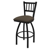 "810 Contessa 36"" Swivel Bar Stool with Black Wrinkle Finish and Canter Earth Seat"