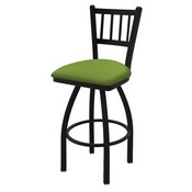 "810 Contessa 36"" Swivel Bar Stool with Black Wrinkle Finish and Canter Kiwi Green Seat"