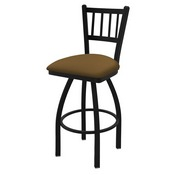 "810 Contessa 36"" Swivel Bar Stool with Black Wrinkle Finish and Canter Saddle Seat"