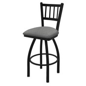 "810 Contessa 36"" Swivel Bar Stool with Black Wrinkle Finish and Graph Alpine Seat"